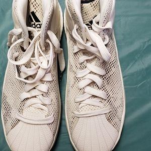Adidas D Rose 5 Boost OG White Tan Sz 12.5